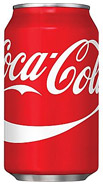 Canned Regular Coca Cola